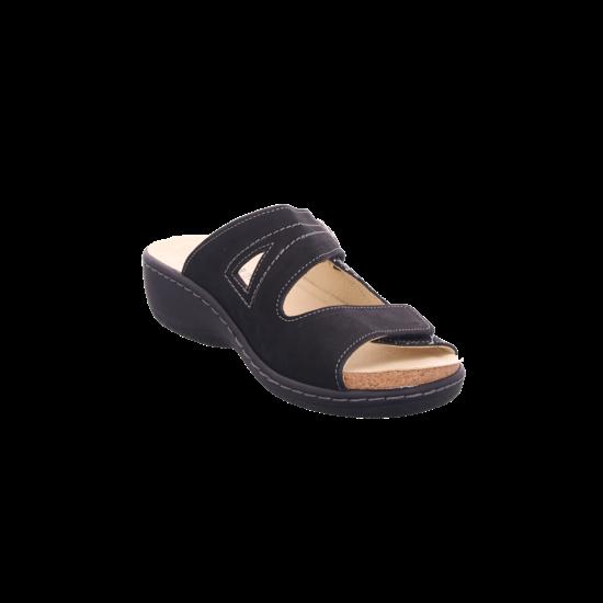 Belvida Damen Pantolette Sandalen Hausschuhe schwarz 42.455