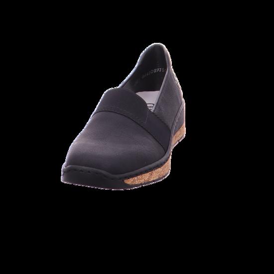 neuesten Stil letzte Veröffentlichung außergewöhnliche Farbpalette Rieker Damen Slipper schwarz 59781-00