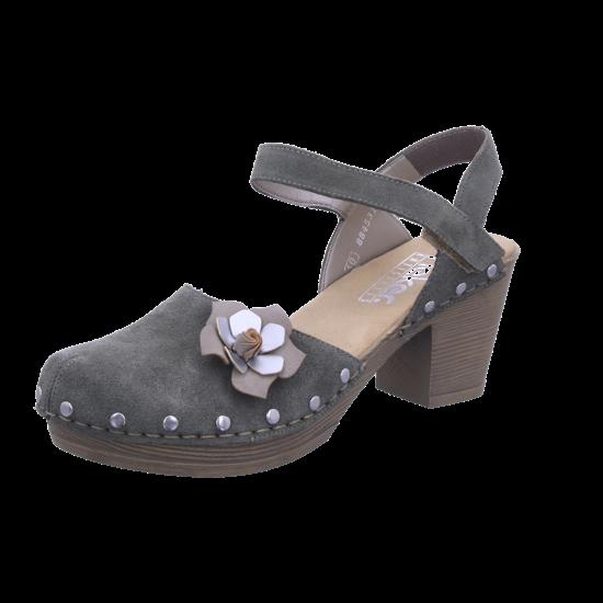 Rieker Damen Sandale Sandalette Sommerschuhe grün 66778 55 XN7Uk