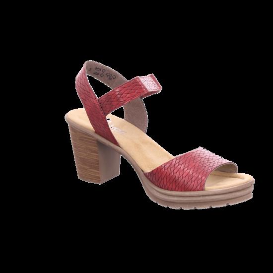 Rieker Damen Sandale Sandalette Sommerschuhe rot V1589 35 jw7Fp