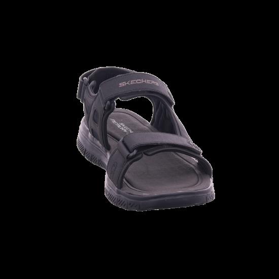 SKECHERS Herren Sandale Sandalette Sommerschuhe schwarz 51874 BBK