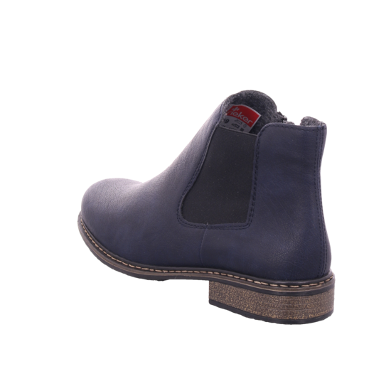 Rieker Damen Stiefel Stiefelette Boots elegant blau Z4994 14 nuqPn