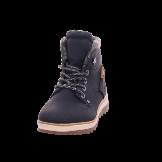 Tom Tailor Damen Winter Stiefel Boots Stiefelette warm Schnürer schwarz 7991402