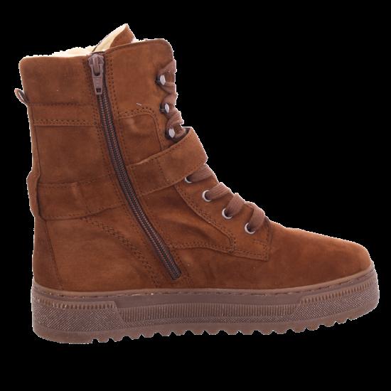 Gabor Damen Winter Stiefel Boots Stiefelette warm Schnürer braun 33.715.78