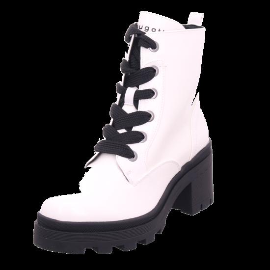 Bugatti Frieda Damen Winter Stiefel Boots Stiefelette warm Schnürer weiß 431774315700