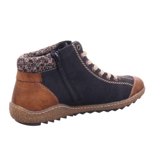 Rieker L752722 L75 Damen Winter Stiefel Boots Stiefelette warm Schnürer schwarz L7527 22