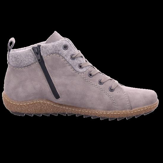 Rieker L752440 L75 Damen Stiefel Schnürer Boots Stiefelette zum schnüren grau L7524 40