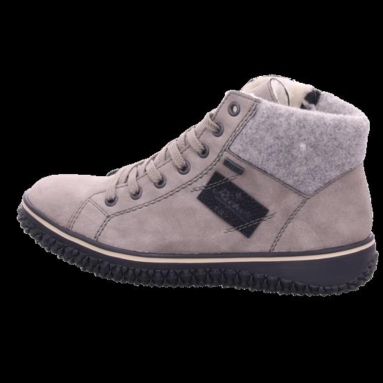 Rieker Z423040 Z42 Damen Winter Stiefel Boots Stiefelette warm Schnürer grau Z4230 40