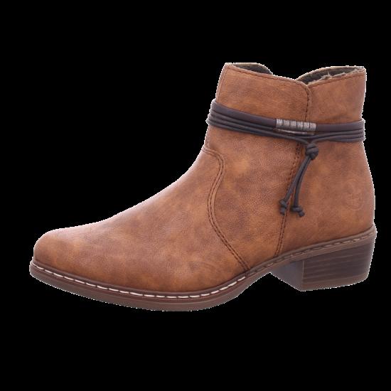 Rieker Y08M023 Y08 Damen Winter Stiefel Boots Stiefelette warm zum schlüpfen braun Y08M0 23