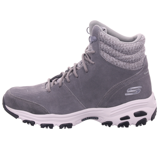 SKECHERS D'LITES CHILL FLURRY,Grau Damen Winter Stiefel rHFbM