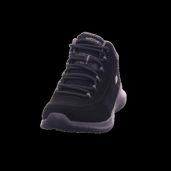 SKECHERS 12918,blackblack Damen Winter Stiefel Boots Stiefelette warm Schnürer schwarz 12918 BBK