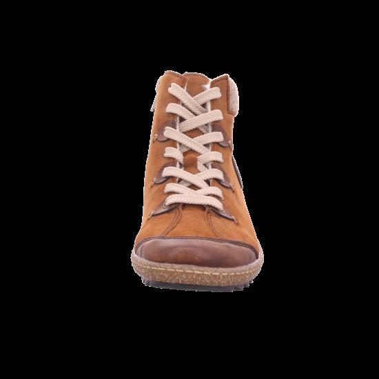 Rieker Damen Winter Stiefel Boots Stiefelette warm Schnürer braun L7513 23
