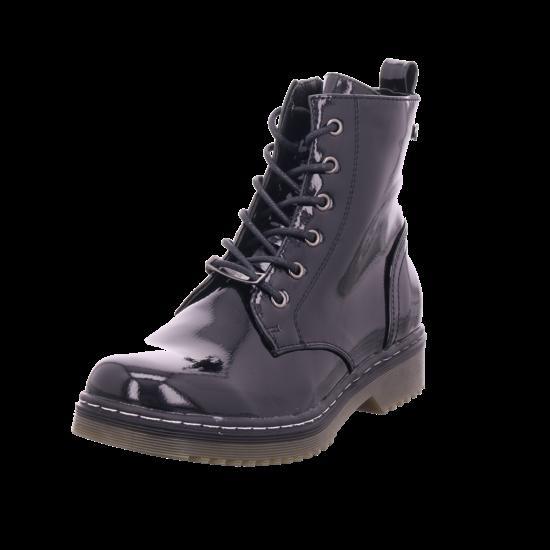 hengst Damen Winter Stiefel Boots Stiefelette warm Schnürer schwarz B21092.801