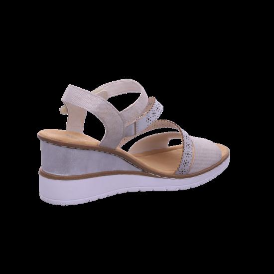 Rieker Damen Sandale Sandalette Sommerschuhe beige V3551 60