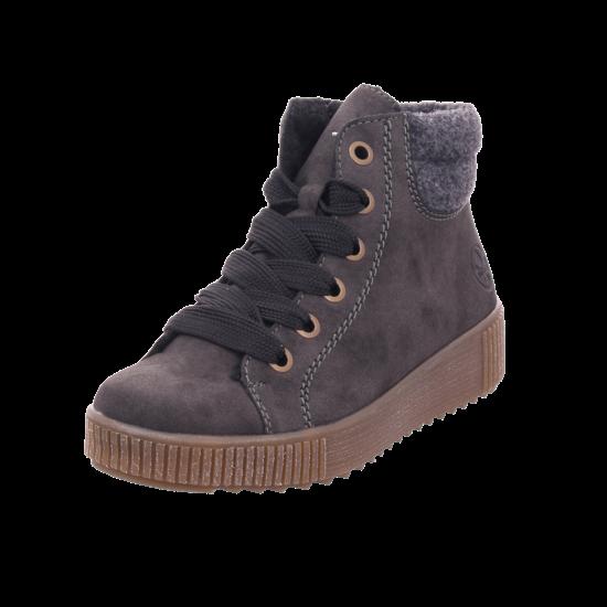 Rieker Damen Winter Stiefel Boots Stiefelette warm Schnürer grau Y6424 45