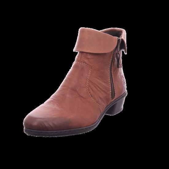 Rieker Damen Stiefel Stiefelette Boots elegant braun Y07A8 22