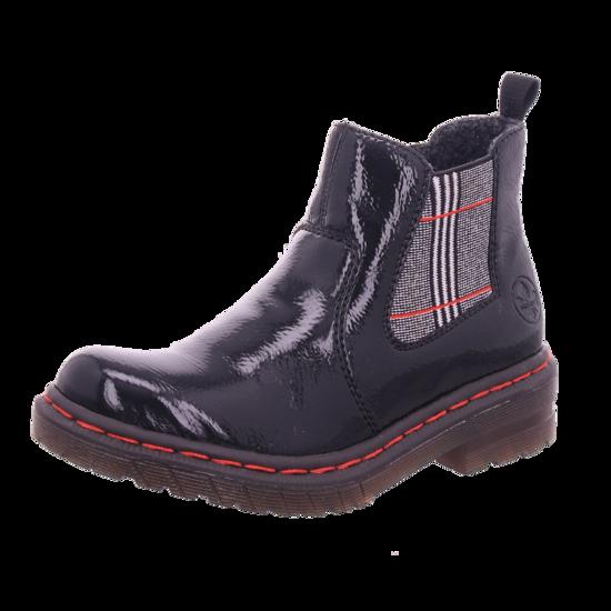 Rieker Damen Winter Stiefel Boots Stiefelette warm zum schlüpfen schwarz 76264 00