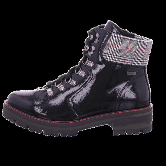 Jana Damen Stiefelette Damen Winter Stiefel Boots Stiefelette warm Schnürer schwarz 8 8 26220 25018