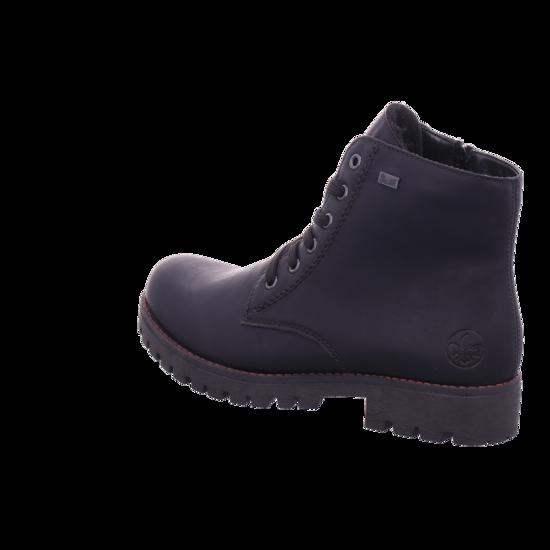 Rieker Damen Winter Stiefel Boots Stiefelette warm Schnürer schwarz 785M1 00