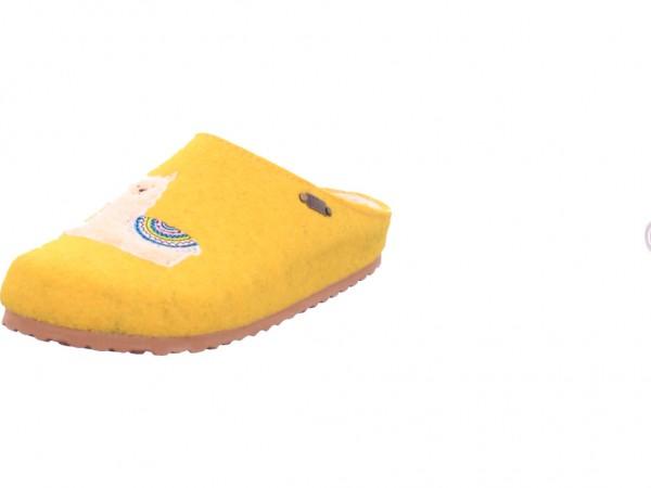 Softwaves Danen Hausschuhe Damen Pantolette Sandalen Hausschuhe gelb 522419000/608