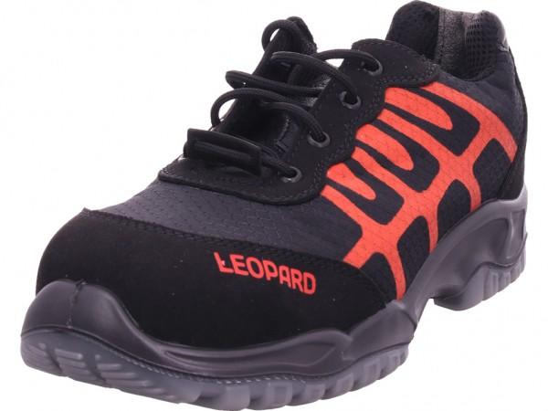 Leopard Sicherheitshalbschuh S1 ESD Unisex - Erwachsene Arbeitsschuhe Sicherheitsschuhe schwarz E0437