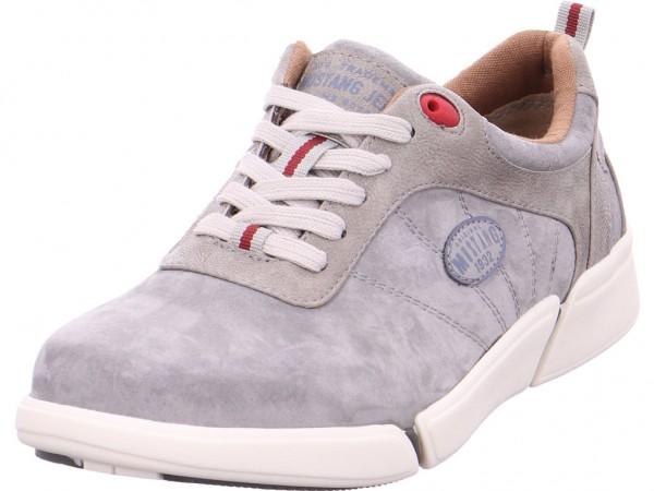 Mustang Herren Schnürschuh Halbschuh sportlich Sneaker grau 4122303 2