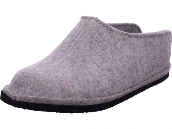 Softwaves Damen Da.-Hausschuh Warmfutter Pantolette Sandalen Hausschuhe grau