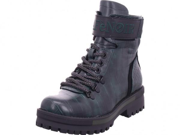 cafenoir Damen Stiefel Schnürer Boots Stiefelette zum schnüren grün FD911