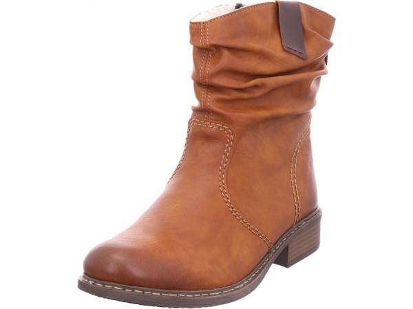 Rieker Damen Winter Stiefel Boots Stiefelette warm zum schlüpfen braun Z4180 22