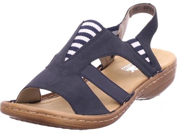Rieker Damen Sandale Sandalette Sommerschuhe blau 608Y7 14