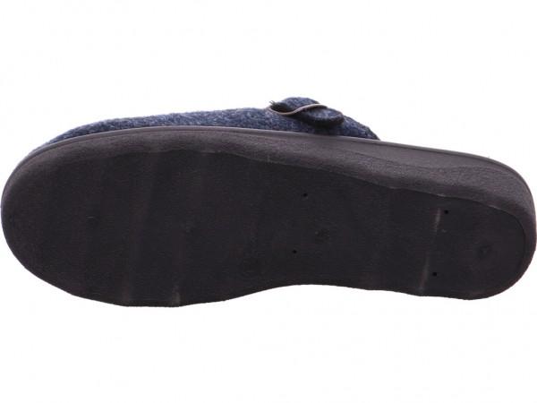 cosmos cordes Damen-Pantoletten mit Kaltfutt Pantolette Sandalen Hausschuhe blau Betty-2-Filz-Navy