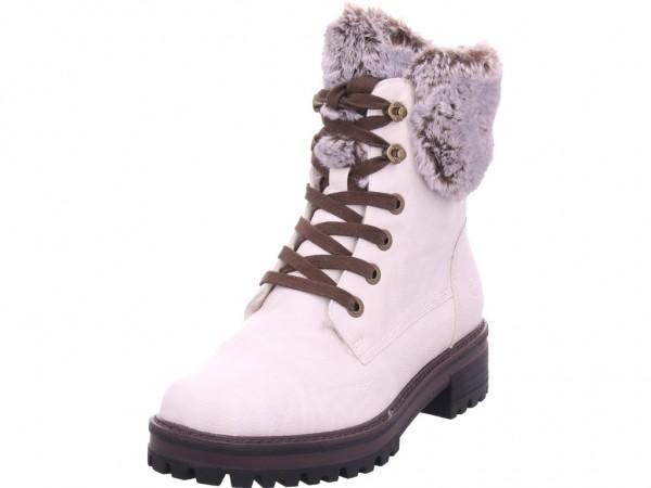 Tamaris Da.-Stiefel Damen Winter Stiefel Boots Stiefelette warm Schnürer weiß 1-1-26236-23/460-460