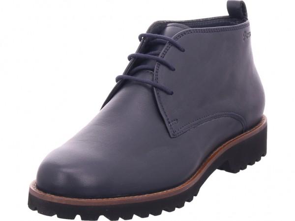 sioux Meredith-702-XL Damen Stiefel Schnürer Boots Stiefelette zum schnüren blau 62841