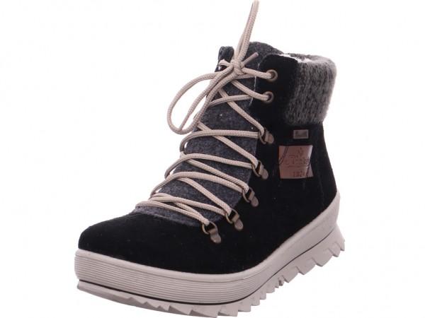 Rieker Damen Winter Stiefel Boots Stiefelette warm Schnürer schwarz Y4330-00