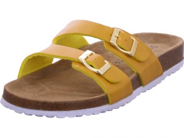 Softwaves Bio Damen flach Damen Pantolette Sandalen Hausschuhe gelb 274310000/607