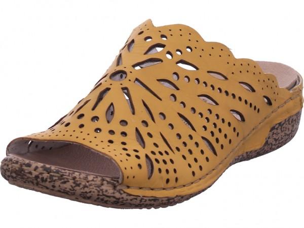 Rieker Damen Pantolette Sandalen Hausschuhe Clogs Slipper gelb V7290-68