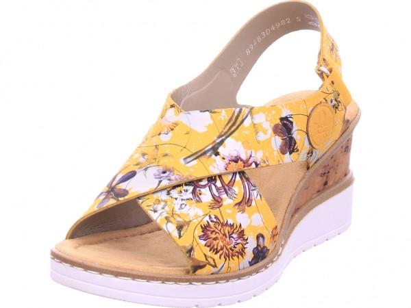 Rieker Damen Sandale Sandalette Sommerschuhe gelb V35H6-90