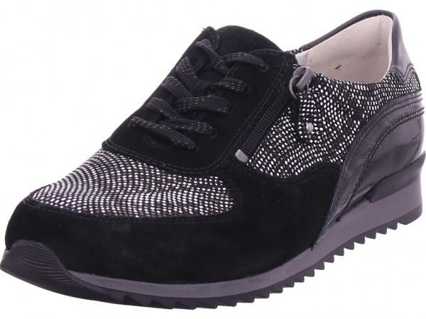 Waldläufer Hurly/H,schwarz Damen Halbschuh Sneaker Sport Schnürer zum schnüren schwarz 370013