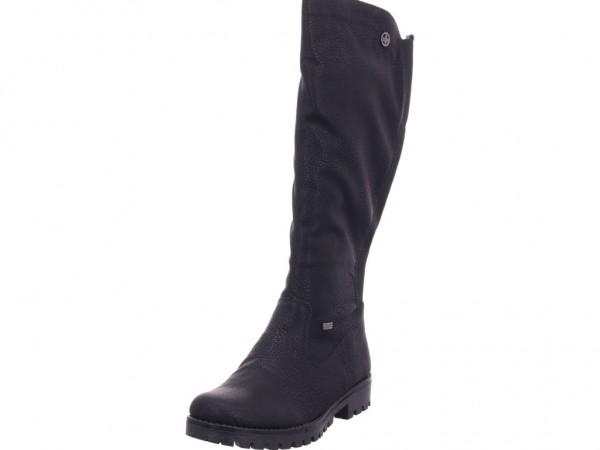 Rieker Damen Stiefel Schnürstiefel warm sportlich Boots schwarz 78554 00