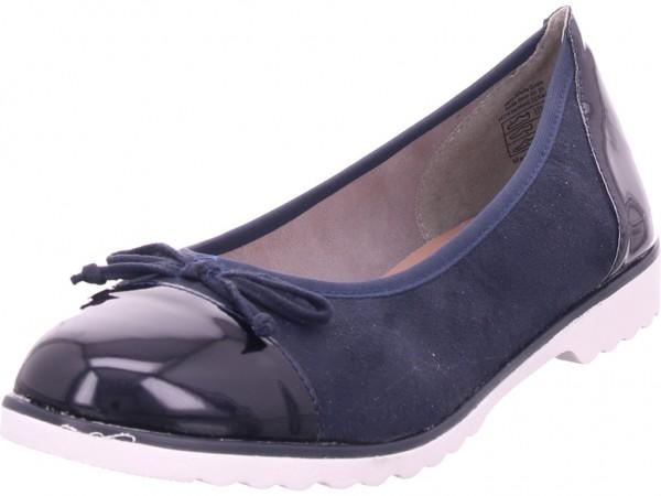 Jane Klain Ballerina glatt und sportlich Damen Pumps flach Ballerina blau 221145000/837