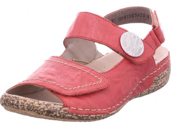 Rieker Damen Sandale Sandalette Sommerschuhe rot V7272-33