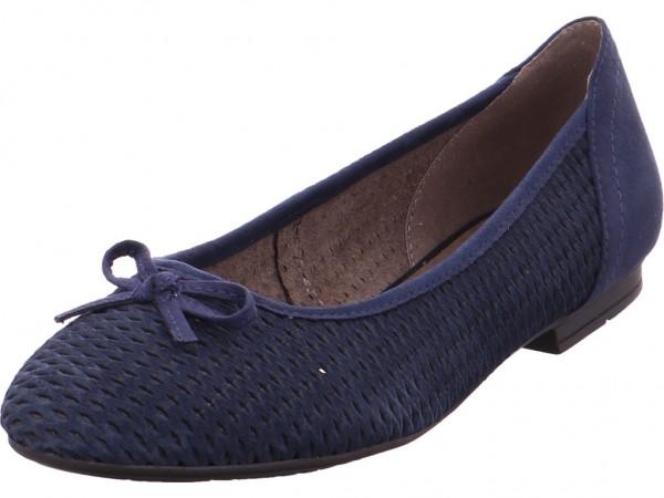 Jana Da.-Ballerina Damen Pumps flach Ballerina blau 8-8-22102-20/805-805