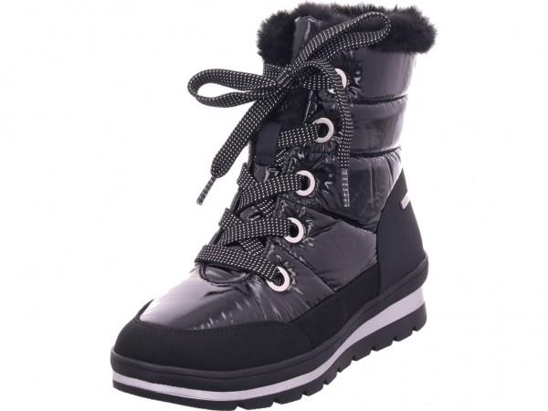 Caprice Woms Boots Damen Winter Stiefel Boots Stiefelette warm Schnürer schwarz 9-9-26221-23/019-019