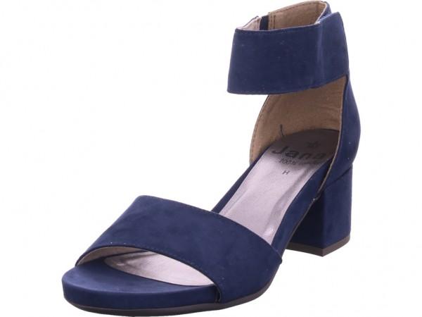 Jana Damen Sandale Sandalette Sommerschuhe blau 8-8-28319-24/805-805