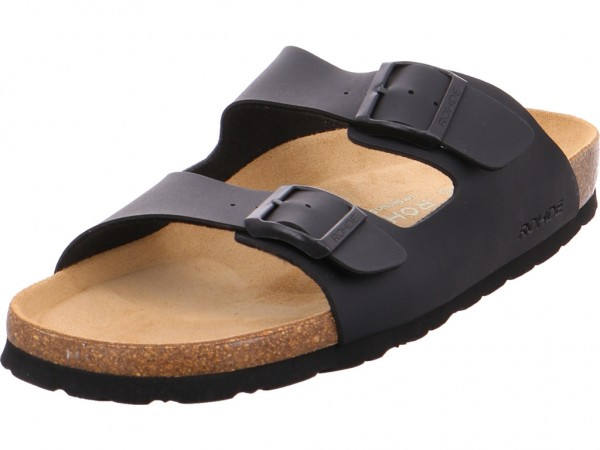 Rohde Herren Pantolette Sandalen Hausschuhe schwarz 5920-90