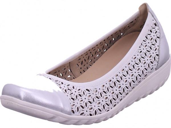 Caprice Woms Court Shoe Damen Pumps flach Ballerina weiß 9-9-22153-26/191