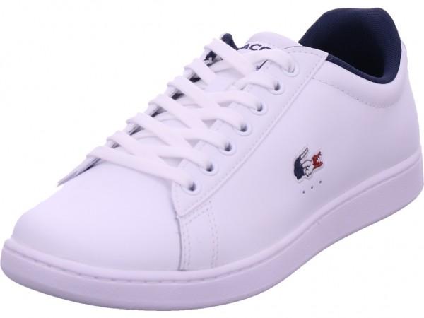 Lacoste Carnaby Herren Schnürschuh Halbschuh sportlich Sneaker weiß 39SMA0033