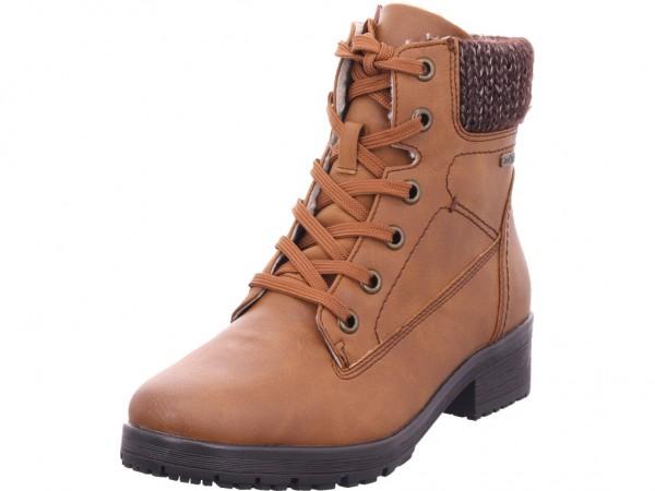 Jana Woms Boots Damen Winter Stiefel Boots Stiefelette warm Schnürer braun 8-8-26218-23/305-305