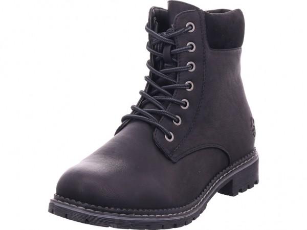 Rieker 9512400 951 Damen Winter Stiefel Boots Stiefelette warm Schnürer schwarz 95124-00