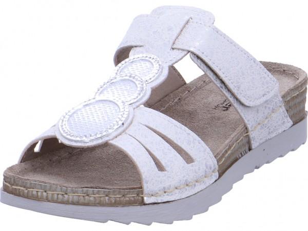 fischer Damen Pantolette Sandalen Hausschuhe Clogs Slipper weiß 386260 808